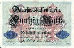 Billet Allemand De 50 Mark Le 5-août-1914 - 6 Chiffres En T B - - [ 2] 1871-1918 : Duitse Rijk