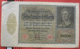 10000 Mark 1922 (WPM 70) 19.1.1922 - [ 3] 1918-1933: Weimarrepubliek