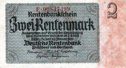 Billet De 2 Rentenmark Le 30-janvier 1937 - [ 3] 1918-1933 : République De Weimar