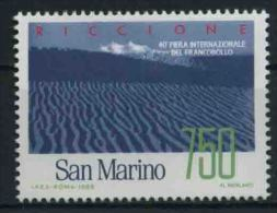 1988 San Marino, Fiera Del Francobollo Riccione , Serie Completa Nuova (**) AL FACCIALE - Neufs