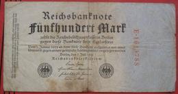 500 Mark 1922 (WPM 74) 7.7.1922 - [ 3] 1918-1933 : République De Weimar
