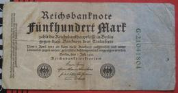 500 Mark 1922 (WPM 74) 7.7.1922 - [ 3] 1918-1933 : Repubblica  Di Weimar