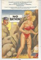 """Baigneuse En Bikini. Gardien:""""Pourquoi Ne Pas M'avoir Prévenue ...?"""" Signé Fitzpatrick - Humour"""