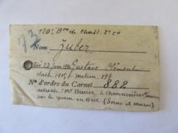 Guerre 14-18 - Petit Certificat De Décès Sur Vélin Du Soldat Zuber, Tué Le 27 Juin 1916 - Documents