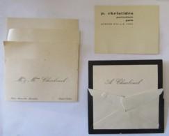 Petit Lot De Cartes De Visite Anciennes - Visiting Cards