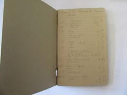 """Guerre 39-45 - Petit Carnet Manuscrit Titré """"Carnet Des Dépenses De L'armée 1940"""" - A étudier - 1939-45"""