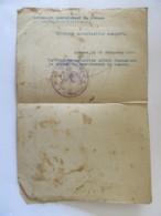 Guerre 14-18 - Document De Décernement De Médaille De La Victoire (médaille Interalliée) Daté Du 19 Décembre 1929 - Documents