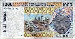 Billet De Banque D'Afrique De L'ouest 1000 Francs ND(1996)lettre A - En T B - - États D'Afrique De L'Ouest