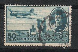 Egypt. 1947. King Farouk Delta Dam And DC-3 Plane - Usados