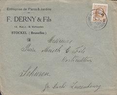 Parcs & Jardins F. DERNY & Fils STOCKEL (Bruxelles) WOLUWE-S-LAMSERT Op-Woluwe 1927 Cover Lettre SCHIEREN Luxembourg - Belgien