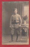 Carte Photo Soldat Tirailleur Camp De Prisonnier De Mannheim En Allemagne  ? - 1914-18