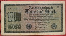 1000 Mark 1922 (WPM 76) 15.9.1922 WZ: Gitter Mit 8 - [ 3] 1918-1933 : Repubblica  Di Weimar
