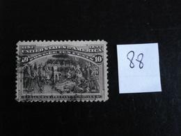 USA - Année 1893 - Colomb Présente Les Indiens 10c Brun-gris - Y.T. 88 - Oblit. - Used - Gestempeld - Used Stamps