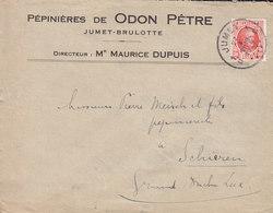 Belgium PEPINIÉRES De ODON PÊTRE Jumet-Brulotte JUMET 1928 Cover Lettre SCHIEREN Luxembourg - Belgien