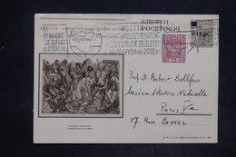 POLOGNE - Entier Postal Surchargé Illustré + Complément De Varsovie Pour La France En 1935 - L 25933 - Stamped Stationery