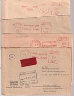 4 X Maschinenstempel Von Bitburg - [7] République Fédérale