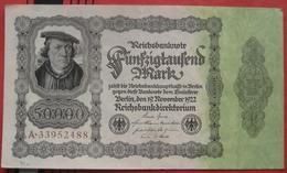 50000 Mark 1922 (WPM 79) 19.11.1922 - [ 3] 1918-1933 : Repubblica  Di Weimar