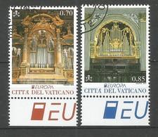 Vatikanstadt  2014  Mi.Nr. 1809 / 1810 ,  EUROPA CEPT - Musikinstrumente - Gestempelt / Used / (o) - Europa-CEPT