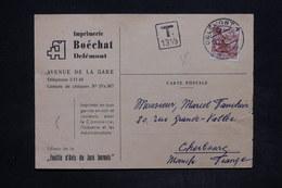SUISSE - Carte Commerciale De Delémont Pour La France En 1947 , Taxé - L 25935 - Marcophilie
