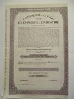 Compagnie Du Congo Pour Le Commerce Et L'Industrie - Capital 150 000 000 - Afrika