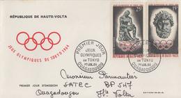 Enveloppe  FDC   1er  Jour    HAUTE  VOLTA   Jeux  Olympiques  TOKYO   1964 - Summer 1964: Tokyo