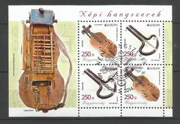 Ungarn  2014  Mi.Nr. Block 371 (5714/5715) ,  EUROPA CEPT - Musikinstrumente - Gestempelt / Used / (o) - Europa-CEPT