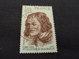 """70-79- Timbre Oblitéré N°  1955  """" Guillaume De Machault  """"    0.50 - Used Stamps"""