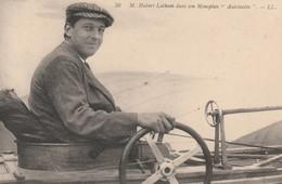 Rare Cpa Hubert Latham Dans Son Monoplan Antoinette - Aviateurs