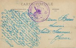 Cachet 37 Eme Regiment Infanterie Franchise Militaire Luneville Vers Saint Sauveur Yonne - Régiments