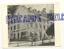 France. Pyrénées Atlantique. Les Eaux-Bonnes. L'Hôtel Du Parc Et La Route Du Cirque De Gourette Et Du Col D'Aubisque - Hotels & Restaurants