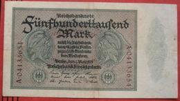 500000 Mark 1923 (WPM 88) 1.5.1923 - 1918-1933: Weimarer Republik