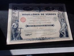 HOUILLERES DE VENDES (FONDATEUR) Ambrières Le Grand,mayenne - Aandelen