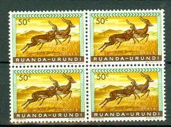 Ruanda Urundi 1959 OBP/COB 4 X 208**  MNH - 1948-61: Ungebraucht