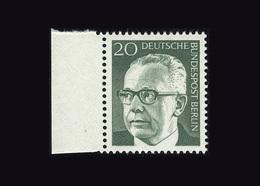 Berlin 1970, Michel-Nr. 362, Freimarken Bundespräsident Dr. Gustav Heinemann, 20 Pf., Bogenrand Links, Postfrisch - Ungebraucht