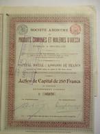 Produits Chimiques Et Huileries D'Odessa - Capital 4 000 000 - Action De 250 Francs - Russie