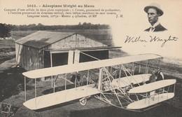 Rare Cpa L'aéroplane De Wrigt Au Mans - Le Mans