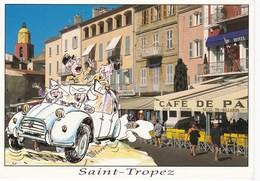 """SAINT-TROPEZ. Voiture: Citroën """"Dodoche"""" Humoristique - Saint-Tropez"""