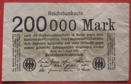200000 Mark 1923 (WPM 100) 9.8.1923 - 1918-1933: Weimarer Republik