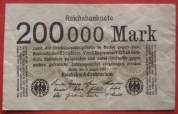 200000 Mark 1923 (WPM 100) 9.8.1923 - 500000 Mark