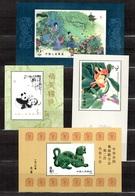 Chine/China Blocs-feuillets YT N° 36, N° 38, N° 40 Et N° 41 Neufs ** MNH. TB. A Saisir! - 1949 - ... République Populaire