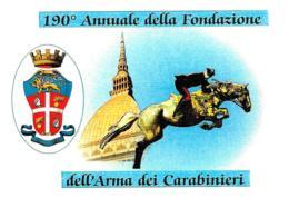 [DC0672] CPM - 190° ANNUALE DELLA FONDAZIONE ARMA DEI CARABIN - TORINO - CARTOLINEA 672 - Non Viaggiata - Polizia – Gendarmeria