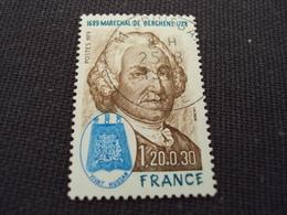 """70-79- Timbre Oblitéré N°   2029 """" Maréchal De Bercheny  """"    0.80 - France"""