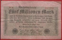 5000000 Mark 1923 (WPM 105) 20.8.1923 / 5 Millionen - [ 3] 1918-1933 : République De Weimar