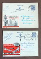 Publibel 2 Cartes Différentes à 90c N° 1034, 1059, Herenkleding, Talonnerie EMEK - Autres