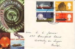 GRANDE-BRETAGNE : 1966 - FDC Pour Bristol - Technologie Anglaise - FDC