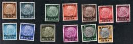 1939 Dez. Deutsche Post Osten Mi 1 - 13 Sn N17 - 29 Yt  17 - 29 Sg 359 - 71 AFA  1 - 13 M. Gum. Und Falz X - Besetzungen 1938-45
