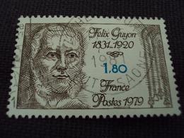"""70-79- Timbre Oblitéré N°  2052  """"  Felix Guyon """"     0.50 - France"""