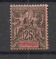 Martinique - 1892 - N°Yv. 38 - Groupe 25c Noir Sur Rose - Neuf Luxe ** / MNH / Postfrisch - Ungebraucht