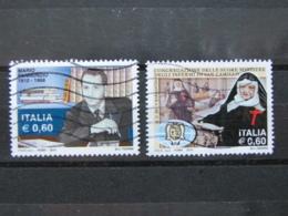 *ITALIA* USATI 2010 - PANNUNZIO SUORE SAN CAMILLO - SASSONE 3154 3169 - PRIMA SCELTA - 6. 1946-.. Repubblica