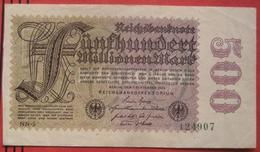 500000000 Mark 1923 (WPM 110) 1.9.1923 / 500 Millionen WZ: Ringe - [ 3] 1918-1933: Weimarrepubliek